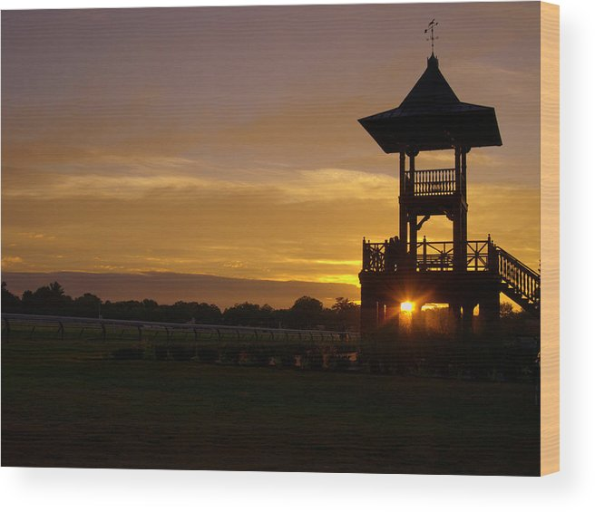 Saratoga Wood Print featuring the photograph Sunrise by Pat Marzinsky