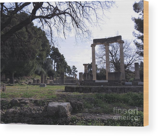Greece Wood Print featuring the photograph Olympia Greece by Paul Sandilands