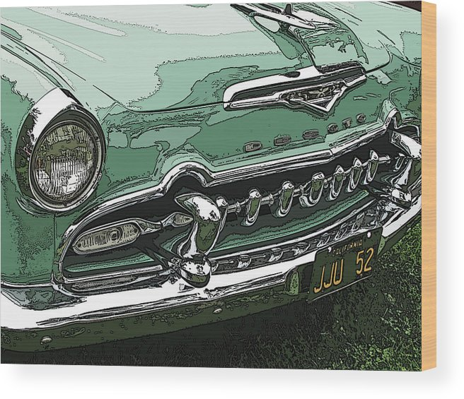 1955 Desoto Grille Wood Print featuring the photograph 1955 Desoto Grille by Samuel Sheats