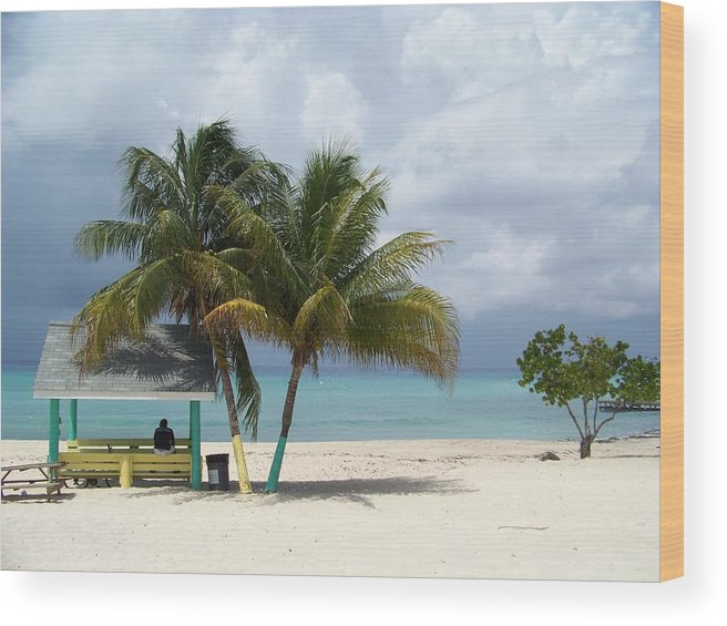 Cayman Islands Wood Print featuring the photograph Cayman Beach by Robert Teeling