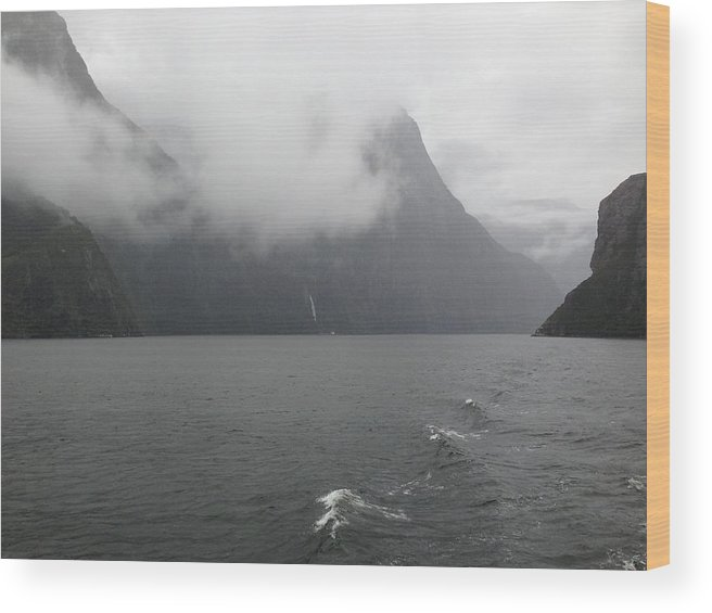 Fjord Wood Print featuring the photograph Fiordlands by Ron Torborg
