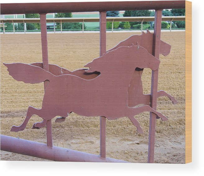 Hollywood Wood Print featuring the photograph Hollywood Casino At Charles Town Races - 12126 by DC Photographer