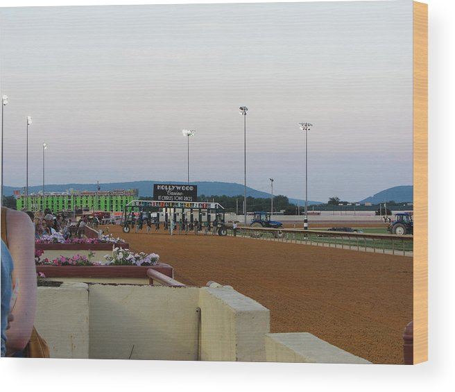 Hollywood Wood Print featuring the photograph Hollywood Casino At Charles Town Races - 12127 by DC Photographer