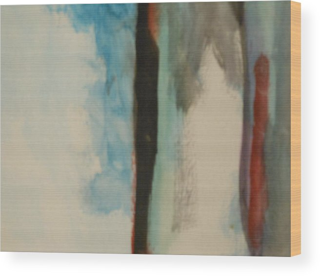 Water Wood Print featuring the painting Abstract by Lord Frederick Lyle Morris - Disabled Veteran