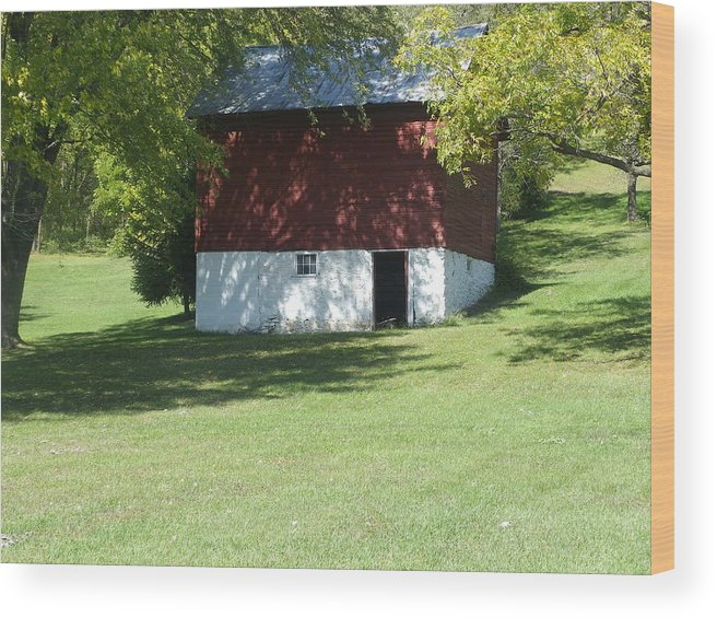 Wood Print featuring the photograph Barn by Kit Meitinger