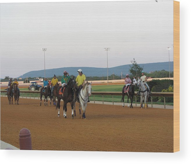 Hollywood Wood Print featuring the photograph Hollywood Casino At Charles Town Races - 12121 by DC Photographer