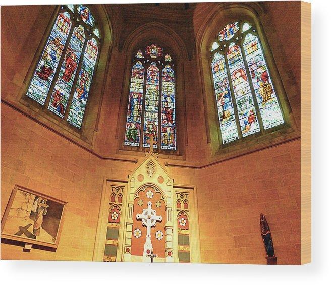 Church Wood Print featuring the photograph Church by Girish J