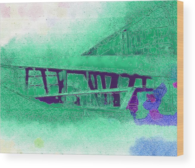 Wood Print featuring the digital art Architecture by Philip Dammen