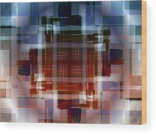 Fractal Art Wood Print featuring the digital art A Matter Of Perspectiver by Mario Carini