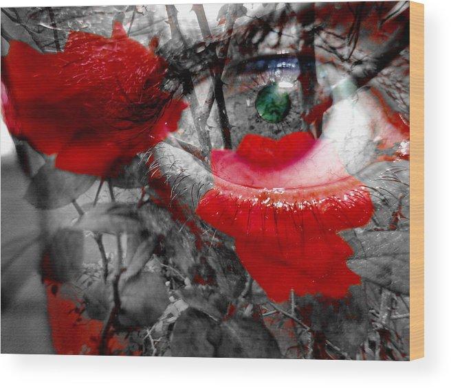 Mixed Media Wood Print featuring the mixed media A Que Florezca La Luz by Beto Machado