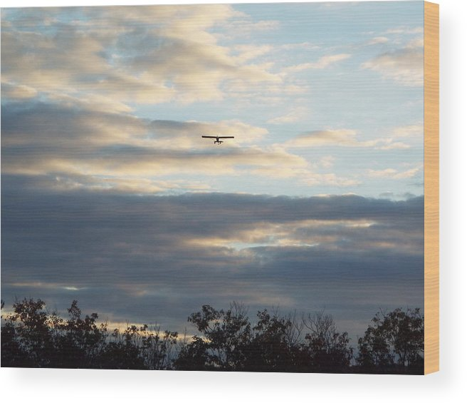 Sunset Photographs Wood Print featuring the photograph A View From Above by Cheryl King