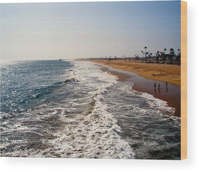 Beach Wood Print featuring the photograph A Walk On The Beach by Carolyn Stagger Cokley