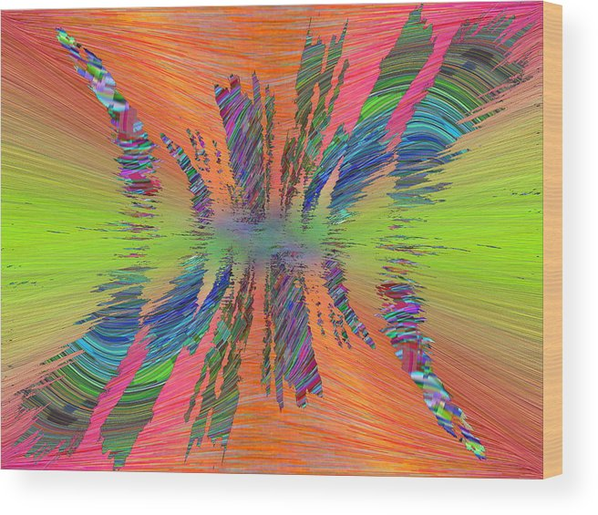 Abstract Wood Print featuring the digital art Abstract Cubed 168 by Tim Allen