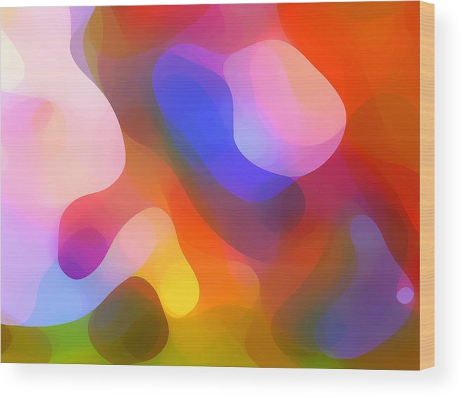 Abstract Art Wood Print featuring the painting Abstract Dappled Sunlight by Amy Vangsgard