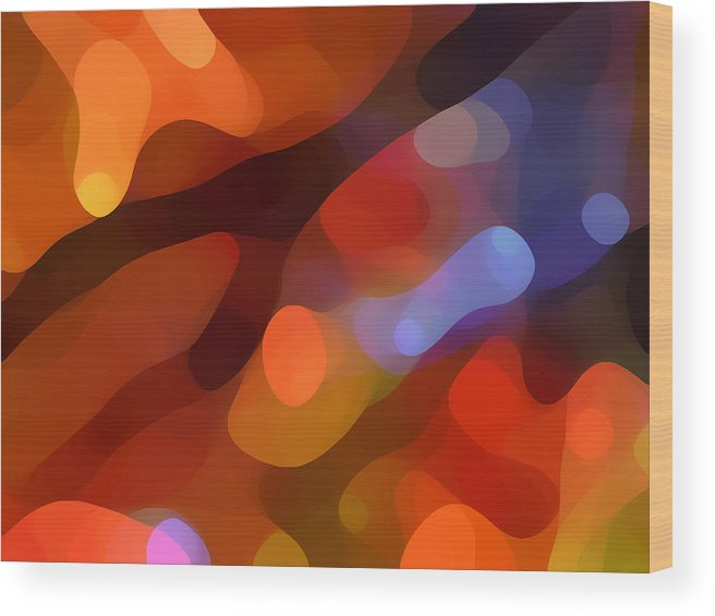 Abstract Art Wood Print featuring the painting Abstract Fall Light by Amy Vangsgard