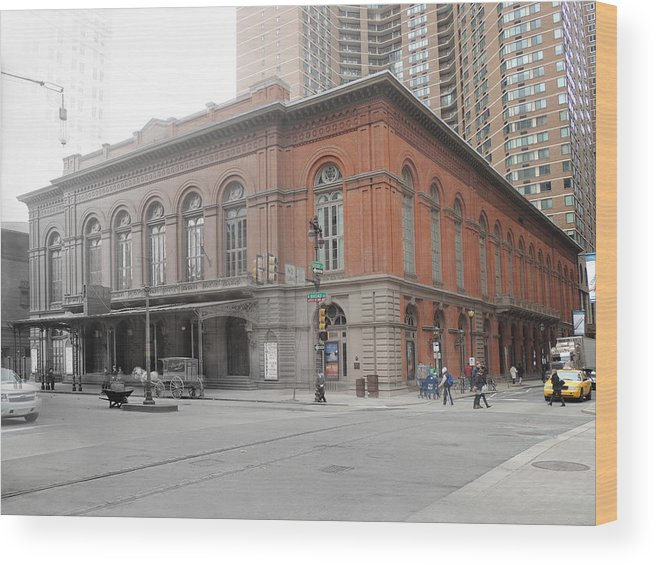 Philadelphia Wood Print featuring the photograph Academy Of Music by Eric Nagy