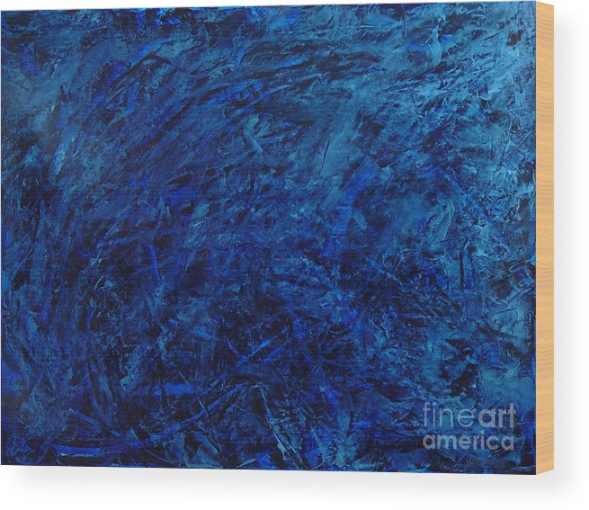 Abstract Wood Print featuring the painting Alans Call by Dean Triolo