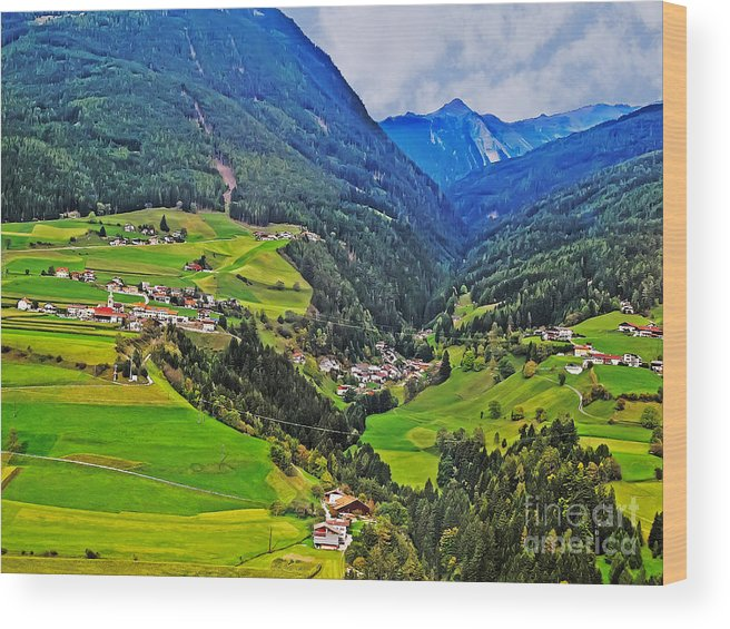 Travel Wood Print featuring the photograph Alpine Meadow by Elvis Vaughn