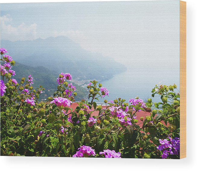 Italy Wood Print featuring the photograph Amalfi Coast View From Ravello Italy by Irina Sztukowski