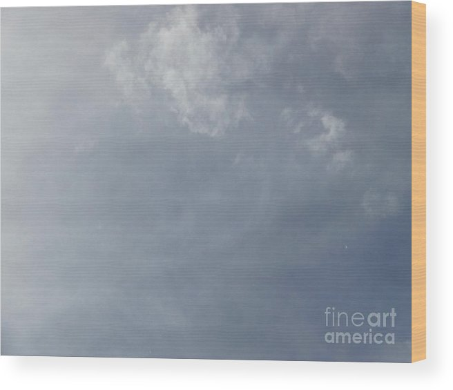 Cloud Photos Wood Print featuring the photograph An Interesting Face In The Clouds by Jacquelyn Roberts