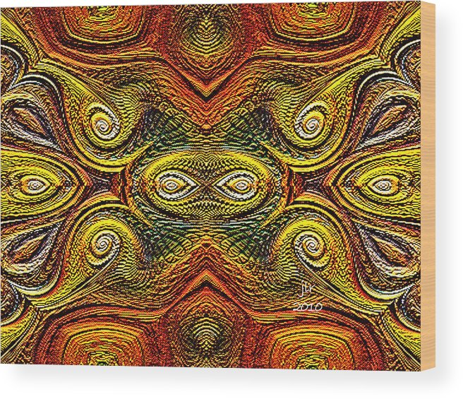 Buddhakat Wood Print featuring the digital art Anasazi Ix by Janet Russell