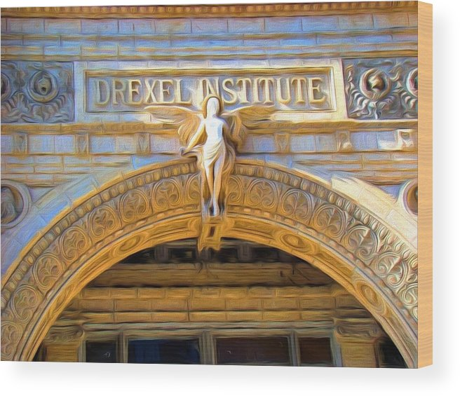 Drexel Institute Wood Print featuring the photograph Angel In Drexel by Alice Gipson