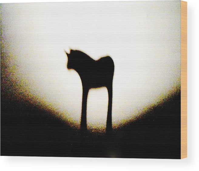 Shadow Wood Print featuring the mixed media Animal by Tim Anderson