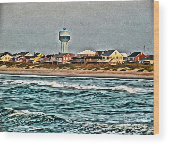 Atlantic Wood Print featuring the photograph Atlantic Beach by Scott Hervieux