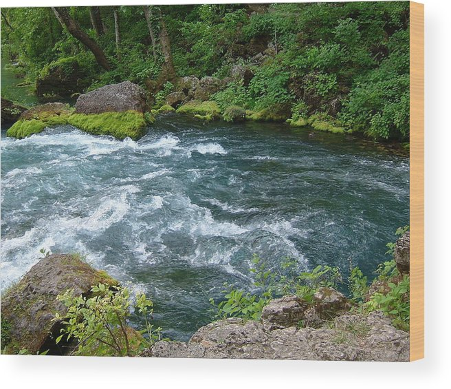 Water Wood Print featuring the photograph Beautiful Big Spring In Missouri by Susan Wyman