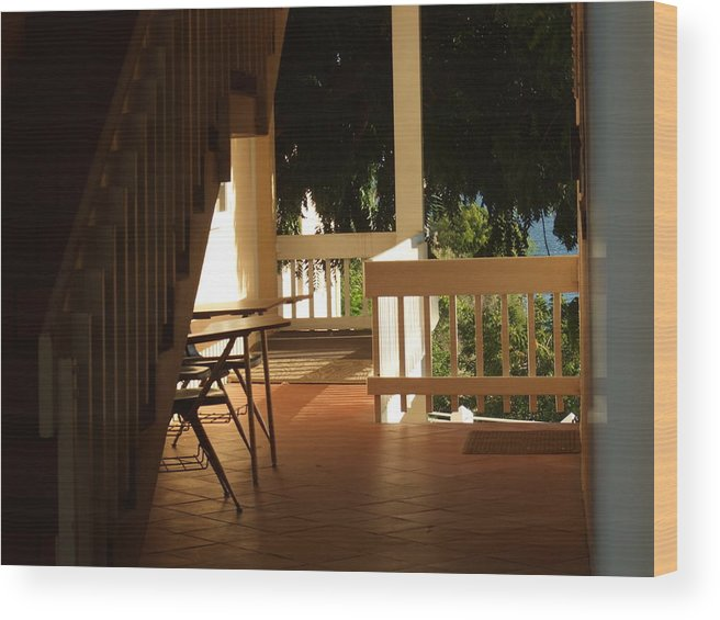 Wood Print featuring the photograph Beneath The Stairs by Katerina Naumenko