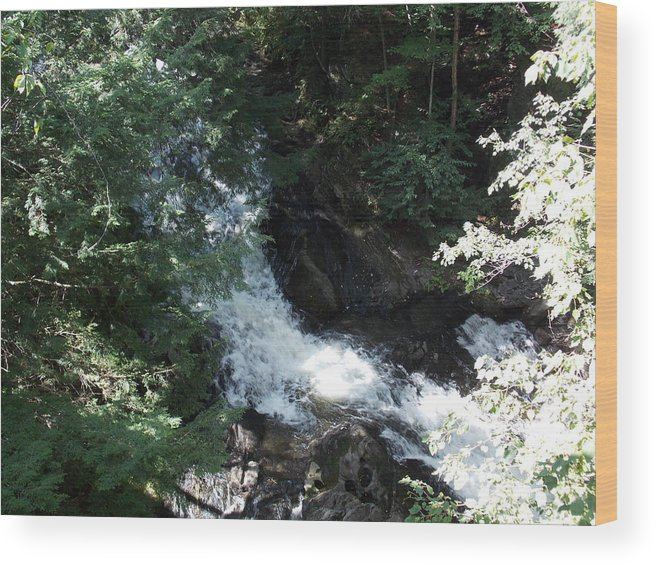 Blow Me Down Wood Print featuring the photograph Blow Me Down Brook by Catherine Gagne