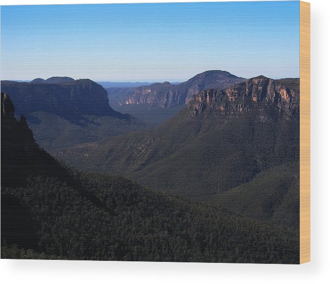 Nature Wood Print featuring the photograph Blue Mountains by David and Mandy