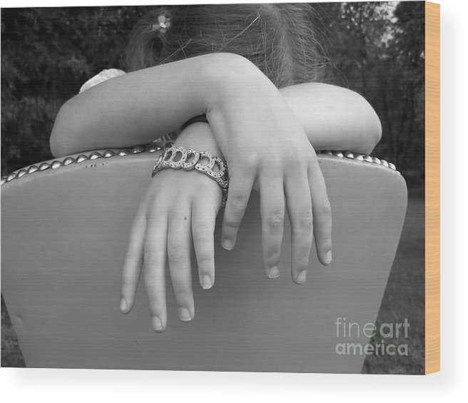 Black And White Wood Print featuring the photograph Bracelet by Cynthia Hallum