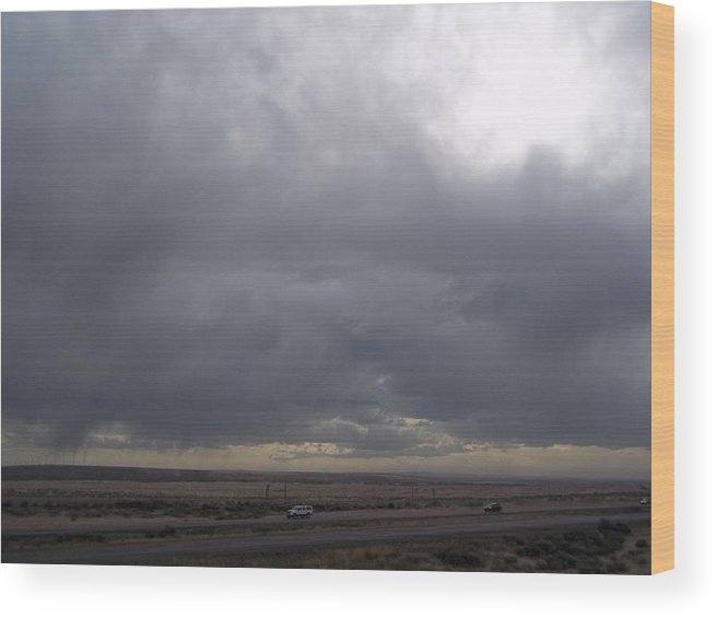 Wood Print featuring the photograph Brewing Storm by Angela Stout