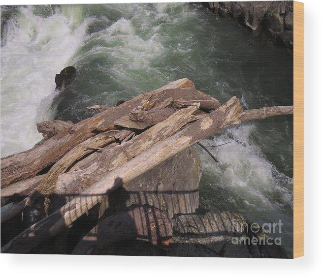 Water Wood Print featuring the photograph Bridging The Chasm 01 by Rrrose Pix