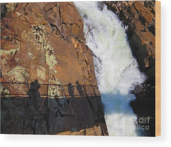 Water Wood Print featuring the photograph Bridging The Chasm 03 by Rrrose Pix