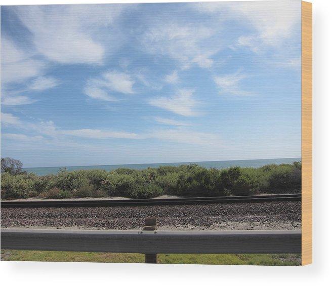 Beach Wood Print featuring the photograph Ca Beach - 121212 by DC Photographer