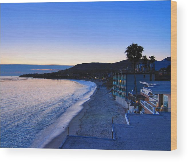 Beach Wood Print featuring the photograph Ca Beach - 121237 by DC Photographer