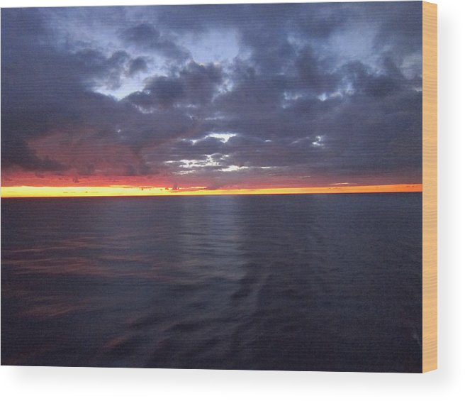 Cruise Wood Print featuring the photograph Caribbean Cruise - On Board Ship - 1212102 by DC Photographer