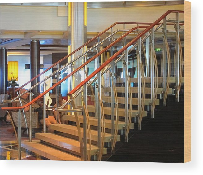 Cruise Wood Print featuring the photograph Caribbean Cruise - On Board Ship - 1212114 by DC Photographer