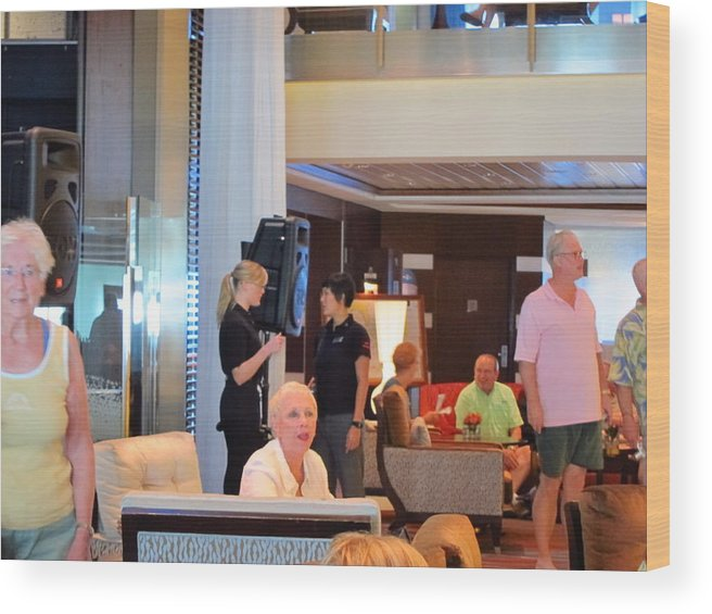 Cruise Wood Print featuring the photograph Caribbean Cruise - On Board Ship - 1212115 by DC Photographer