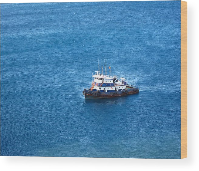Cruise Wood Print featuring the photograph Caribbean Cruise - On Board Ship - 1212137 by DC Photographer