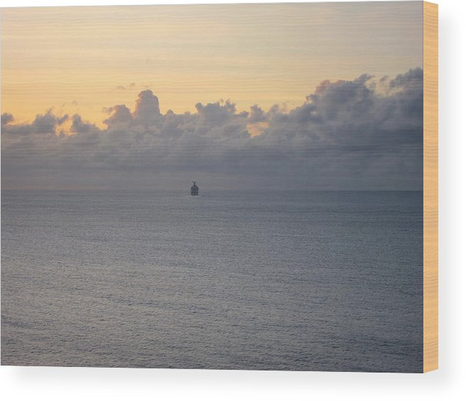 Cruise Wood Print featuring the photograph Caribbean Cruise - On Board Ship - 1212146 by DC Photographer