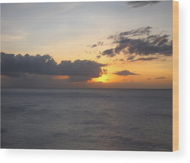 Cruise Wood Print featuring the photograph Caribbean Cruise - On Board Ship - 1212148 by DC Photographer