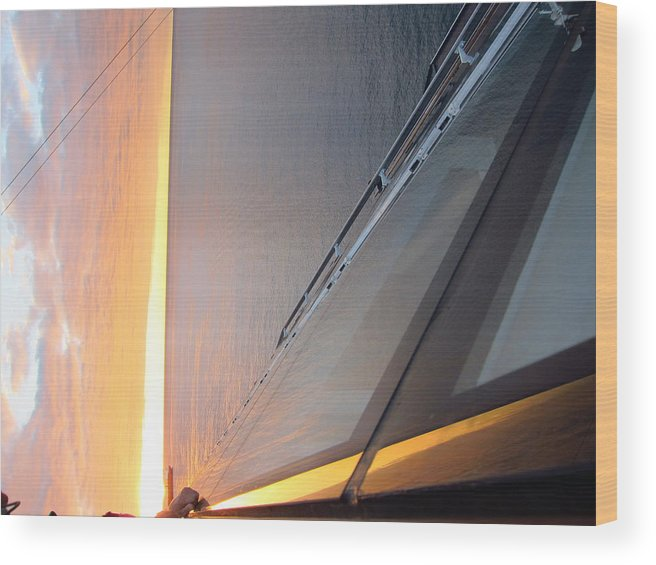 Cruise Wood Print featuring the photograph Caribbean Cruise - On Board Ship - 1212167 by DC Photographer