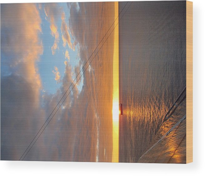 Cruise Wood Print featuring the photograph Caribbean Cruise - On Board Ship - 1212173 by DC Photographer