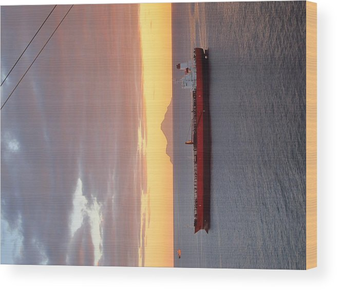 Cruise Wood Print featuring the photograph Caribbean Cruise - On Board Ship - 1212189 by DC Photographer