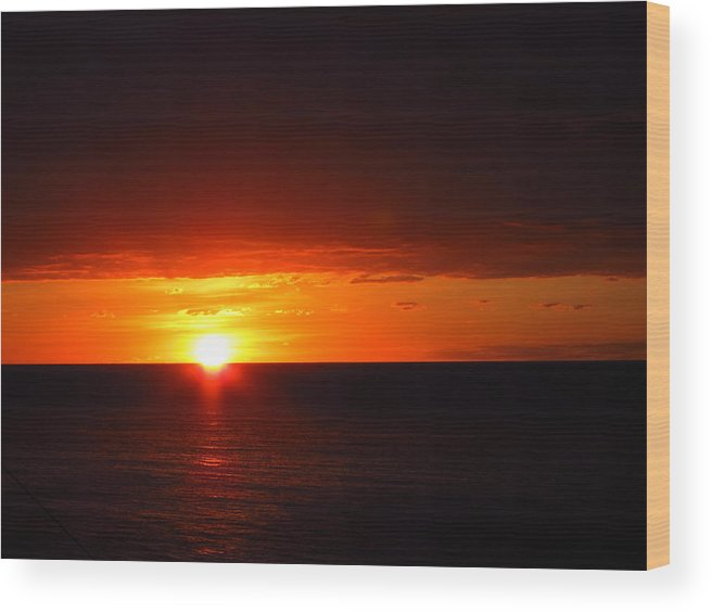 Cruise Wood Print featuring the photograph Caribbean Cruise - On Board Ship - 1212192 by DC Photographer