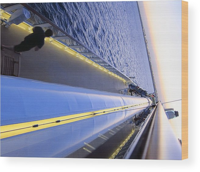 Cruise Wood Print featuring the photograph Caribbean Cruise - On Board Ship - 121222 by DC Photographer
