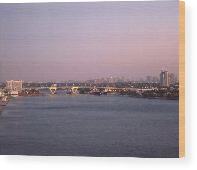 Cruise Wood Print featuring the photograph Caribbean Cruise - On Board Ship - 1212229 by DC Photographer